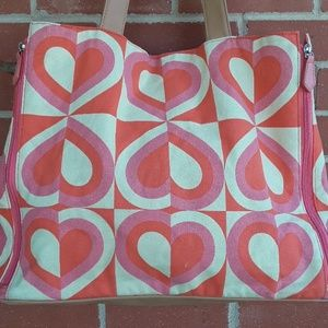 "DSW ""hearts"" Satchel or shoulder bag."